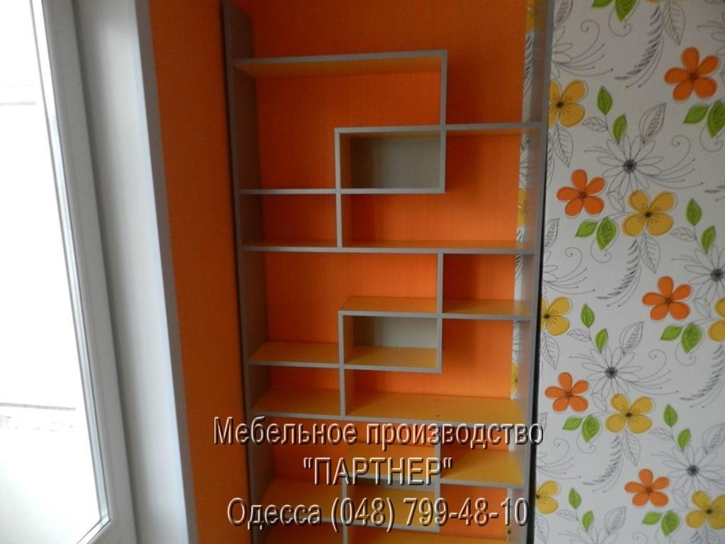 Полки для детской комнаты в нише мебель на заказ в тамбове.